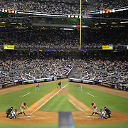 Evan Gattis, Houston Astros, batting during the New York Yankees Vs Houston Astros, Wildcard game at Yankee Stadium, The Bronx, New York. 6th October 2015 Photo Tim Clayton for The Players Tribune