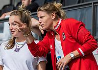 AMSTELVEEN -   manager Gabrielle Marsman (Amsterdam) ) voor  de hockey hoofdklasse competitiewedstrijd  dames, Amsterdam-Oranje Rood (2-1).  COPYRIGHT KOEN SUYK