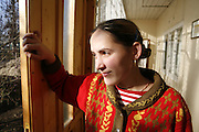 Rodica in December 2006 at the house in Popricani where she helps with cleaning and cooking