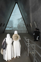 Two nuns and two traditionally dressed Jews at the Yad Vashem Holocaust Museum in west Jerusalem. From a series of travel photos taken in Jerusalem and nearby areas. Photo date: Tuesday, July 31, 2018. Photo credit should read: Richard Gray/EMPICS