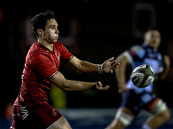 Joey Carbery of Munster<br /> <br /> Photographer Simon King/Replay Images<br /> <br /> Guinness PRO14 Round 4 - Cardiff Blues v Munster - Friday 21st September 2018 - Cardiff Arms Park - Cardiff<br /> <br /> World Copyright © Replay Images . All rights reserved. info@replayimages.co.uk - http://replayimages.co.uk