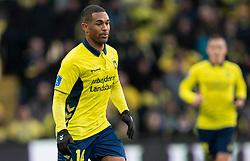 Kevin Mensah (Brøndby IF) under kampen i 3F Superligaen mellem Brøndby IF og Lyngby Boldklub den 1. marts 2020 på Brøndby Stadion (Foto: Claus Birch).