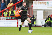 Forest Green Rovers Carl Winchester(7) runs forward during the EFL Sky Bet League 2 match between Crawley Town and Forest Green Rovers at The People's Pension Stadium, Crawley, England on 6 April 2019.