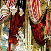 Lavish interior of St Vitus Cathedral in Prague Castle