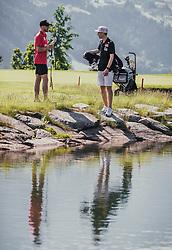 06.06.2019, Golfclub Zillertal, Uderns, AUT, Skijumpers Golf Trophy, im Bild Robert Johansson (NOR), Michael Hayboeck (AUT) // during the Skijumpers Golf Trophy at the Golfclub Zillertal, Uderns, Austria on 2019/06/06. EXPA Pictures © 2019, PhotoCredit: EXPA/Stefanie Oberhauser