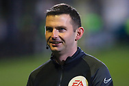 The Referee Michael Oliver during the The FA Cup match between Marine and Tottenham Hotspur at Marine Travel Arena, Great Crosby, United Kingdom on 10 January 2021.