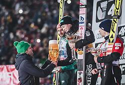 30.12.2018, Schattenbergschanze, Oberstdorf, GER, FIS Weltcup Skisprung, Vierschanzentournee, Oberstdorf, Siegerehrung, im Bild 2. Platz Markus Eisenbichler (GER), Sieger Ryoyu Kobayashi (JPN), 3. Platz Stefan Kraft (AUT) // 2nd placed Markus Eisenbichler of Germany Winner Ryoyu Kobayashi of Japan 3rd placed Stefan Kraft of Austria during the winner Ceremony for the Four Hills Tournament of FIS Ski Jumping World Cup at the Schattenbergschanze in Oberstdorf, Germany on 2018/12/30. EXPA Pictures © 2018, PhotoCredit: EXPA/ JFK