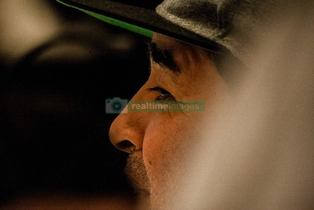 """July 4, 2017 - Naples, Italy - Former Argentine football player Diego Armando Maradona gestures during a press conference at Villa D' Angelo to present the public event """"Effetto Maradona'' where he will get the honorary citizenship after thirty years from his presentation at San Paolo stadium in Naples, Italy on July 04, 2017. (Credit Image: © Paolo Manzo/NurPhoto via ZUMA Press)"""