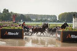 IJsbrand Chardon, (NED), Bravour, Danbrozie, Don Marcell, Winston E, Zepp - Driving Marathon - Alltech FEI World Equestrian Games™ 2014 - Normandy, France.<br /> © Hippo Foto Team - Dirk Caremans<br /> 06/09/14