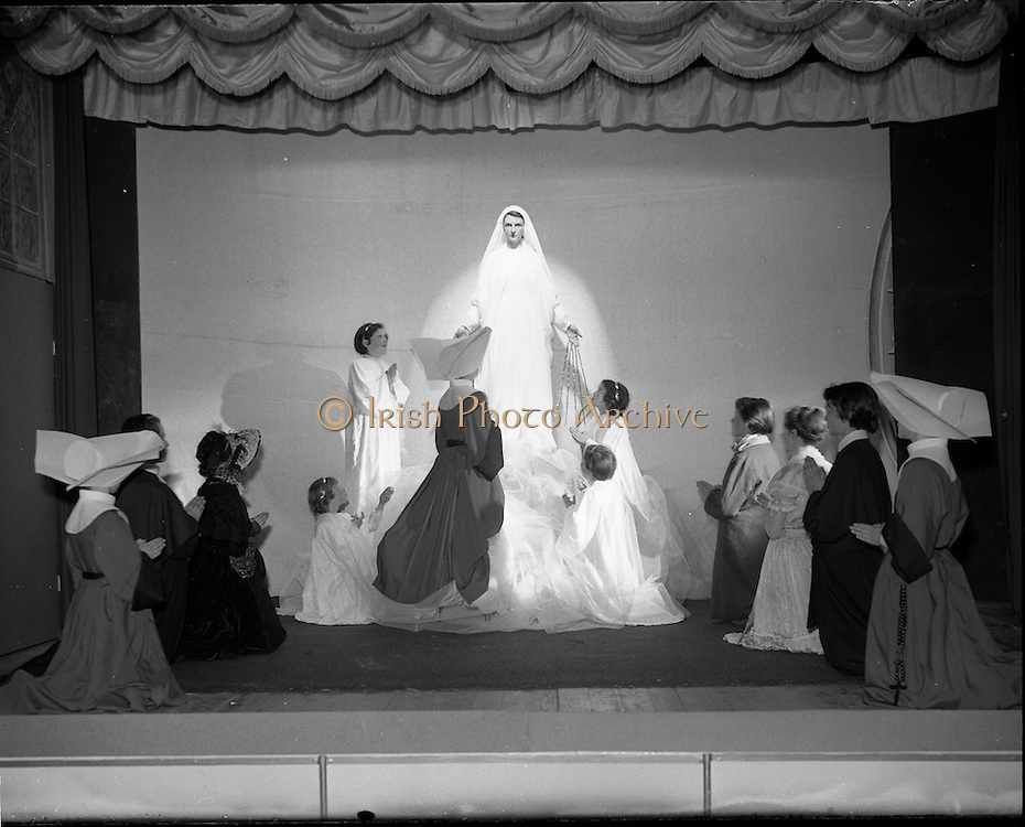 14/05/1957<br /> 05/14/1957<br /> 14 May 1957<br /> St Agatha's Daughters of Charity convent in North William Street, commemorating their centenary, Dublin. School children taking part in the celebrations.