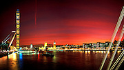 The London Eye And Parliament At Sunset