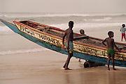 Fishing Boat Art - Dakar Beach Senegal