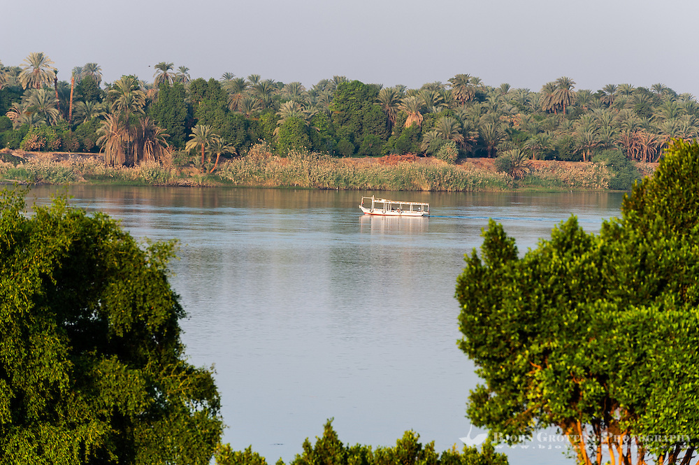 Egypt. The river Nile seen from the Temple of Kom Ombo.