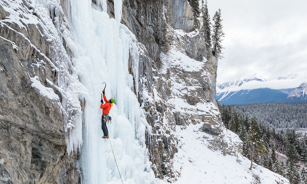 Pat Lindsay leading Carlsberg Column in Field, BC, Canada