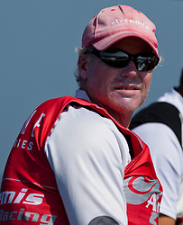 Terry Hutchinson during the practice day, 19th of February. Extreme Sailing Series, Act 1, Muscat, Oman (22 - 24 Februari 2011)  Sander van der Borch / Artemis Racing