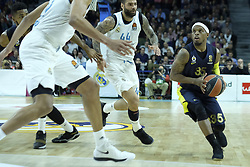 March 2, 2018 - Madrid, Madrid, Spain - MUHAMMED  ALI of Fenerbahce Dogus in action  during the Turkish Airlines Euroleague basketball match between Real Madrid and Fenerbahce Dogus at the Wizink Center in Madrid, Spain on March 2, 2018. Photo: Oscar Gonzalez/NurPhoto  (Credit Image: © Oscar Gonzalez/NurPhoto via ZUMA Press)