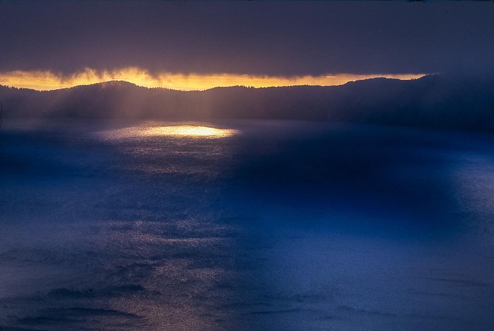 Crater Lake, morning light, Crater Lake National Park, Oregon, USA
