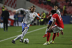 December 5, 2017 - Lisbon, Portugal - Basel's midfielder Michael Lang (L) vies for the ball with Benfica's defender Eliseu (R)  during Champions League 2017/18 match between SL Benfica vs FC Basel, in Lisbon, on December 5, 2017. (Credit Image: © Carlos Palma/NurPhoto via ZUMA Press)