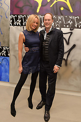 HARRY & BODIL BLAIN at a private view of Refraction. The Image of Sense held at Blain Southern, Hanover Square, London on 9th December 2014.