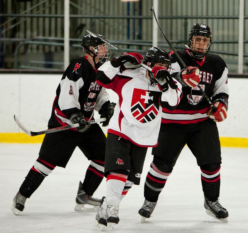2011 Pomfret School Boys Hockey. (Photo by Robert Falcetti)..