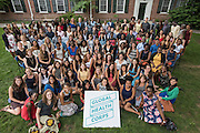 Mara Lavitt<br /> July 12, 2015<br /> Global Health Corps fellows, Pierson College quad, Yale University.