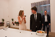 NATALIA VODIANOVA; ANTOINE ARNAUD; HARRY BLAIN, Damien Hirst, Tate Modern: dinner. 2 April 2012.