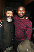 New York, NY-December 20: (L-R) Producer/Curator D' Prosper and Abiola One, CEO & Publisher of OkayAfrica attend the Ascension Party-A Holiday Affair curated by D'Prosper and held at the Top of the Standard on December 20, 2017 in New York City.  (Terrence Jennings/terrencejennings.com)