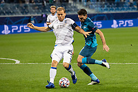 SAINT-PETERSBURG, RUSSIA - OCTOBER 20: Ruud Vormer of Club Brugge KV and Magomed Ozdoyev of Zenit St Petersburg in action during the UEFA Champions League Group F match between Zenit St Petersburg and Club Brugge KV at Gazprom Arena on October 20, 2020 in Saint-Petersburg, Russia (Photo by MB Media]