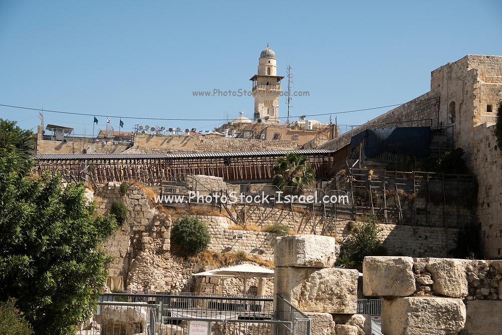Israel, Jerusalem, Old City, Al Aqsa Mosque on Temple Mount known as the Al Aqsa Compound or Haram esh-Sharif