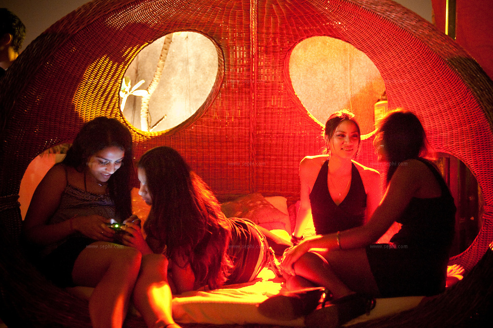 Girls out clubbing  at the Love Hotel in south Delhi