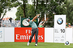 25.06.2015, Golfclub München Eichenried, Muenchen, GER, BMW International Golf Open, Tag 1, im Bild Stephan Jaeger (GER) am Abschlag, Tee // during day one of the BMW International Golf Open at the Golfclub München Eichenried in Muenchen, Germany on 2015/06/25. EXPA Pictures © 2015, PhotoCredit: EXPA/ Eibner-Pressefoto/ Kolbert<br /> <br /> *****ATTENTION - OUT of GER*****
