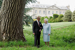 MANDATORY CREDIT: Tim Graham EDITORIAL USE ONLY File photo dated 18/11/07 of Queen Elizabeth II and The Duke of Edinburgh in the grounds of Broadlands on their Diamond wedding anniversary, as they are celebrating their 69th wedding anniversary today.