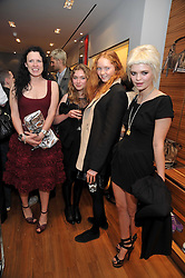Left to right, KATIE GRAND, IMOGEN POOTS, LILY COLE and PIXIE GELDOF at a party in aid of the charity Best Buddies held at the Hogan store, 10 Sloane Street, London SW10 on 13th May 2009.