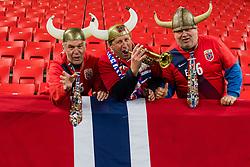 November 14, 2017 - Trnava, SLOVAKIA - 171114 Fans of Norway during the international friendly match between Slovakia and Norway on November 14, 2017 in Trnava..Photo: Vegard Wivestad Grøtt / BILDBYRÃ…N / kod VG / 170058 (Credit Image: © Vegard Wivestad GrØTt/Bildbyran via ZUMA Wire)