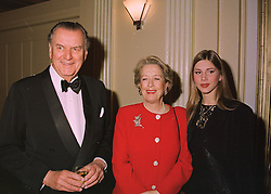 PRINCE & PRINCESS NICHOLAS ROMANOV and their granddaughter MISS NICOLETTE CONSOLO, at a reception in London on 16th March 1998.MGB 17