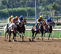 March 30, 2018 - Arcadia, California, USA - Horse Racing -  anta Anita Race Track, Arcadia, California, USA, March 29, 2018...Credit Image  cr  Scott Mitchell/ZUMA Press (Credit Image: © Scott Mitchell via ZUMA Wire)
