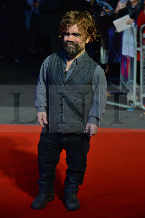 © Licensed to London News Pictures. 15/10/2017. London, UK. PETER DINKLAGE attends the Three Billboards Outside Ebbing Missouri Film UK Premiere showing as part of the 51st BFI London Film Festival. Photo credit: Ray Tang/LNP