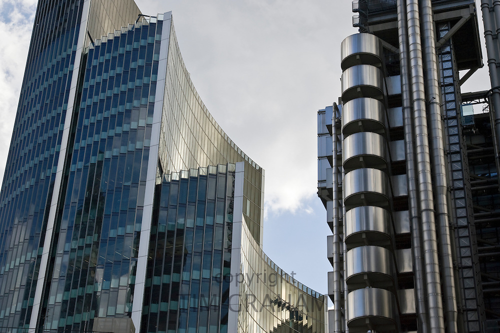 The Willis Building and The Lloyds Building, City of London, England, United Kingdom