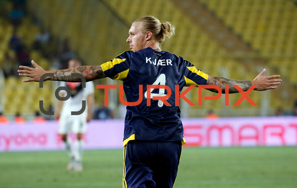 Fenerbahce's Kjærduring their UEFA Champions league third qualifying round first leg soccer match Fenerbahce between Shakhtar Donetsk at the Sukru Saracaoglu stadium in Istanbul Turkey on Tuesday 28 July 2015. Photo by Aykut AKICI/TURKPIX