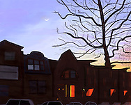 Ninth Street, Park Slope, Brooklyn at dusk