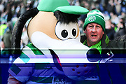 Celtic mascot before the Betfred Semi-Final Cup match between Heart of Midlothian and Celtic at Murrayfield, Edinburgh, Scotland on 28 October 2018.