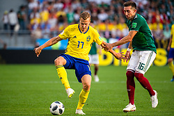 June 27, 2018 - Ekaterinburg, Russia - 180627 Viktor Claesson of Sweden and Hector Herrera of Mexico  during the FIFA World Cup group stage match between Mexico and Sweden on June 27, 2018 in Ekaterinburg..Photo: Petter Arvidson / BILDBYRN / kod PA / 87737 (Credit Image: © Petter Arvidson/Bildbyran via ZUMA Press)
