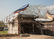 Restoration work on Halls of the Mandarins, Hue Citadel / Imperial City, Hue, Vietnam