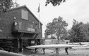 Mortlake/Chiswick. Greater London. London. 2017 Bourne Regatta At Chiswick Bridge. Course, Runs from and to Mortlake Anglian and Alpha Boathouse, dependent on the Tide Direction. Chiswick.  River Thames. <br /> <br /> General view, Putney Town Boathouse.<br /> <br /> Saturday  06/05/2017<br /> <br /> [Mandatory Credit Peter SPURRIER/Intersport Images]