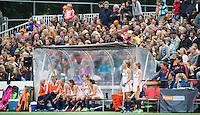 AMSTERDAM - Hockey - Dug Out Nederland.   Interland tussen de vrouwen van Nederland en Groot-Brittannië, in de Rabo Super Serie 2016 .  COPYRIGHT KOEN SUYK