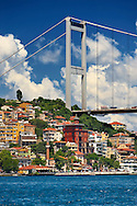 The Fatih Sultan Mehmet Bridge, also known as the Second Bosphorus Bridge Istanbul Turkey .<br /> <br /> If you prefer to buy from our ALAMY PHOTO LIBRARY  Collection visit : https://www.alamy.com/portfolio/paul-williams-funkystock/istanbul.html<br /> <br /> Visit our TURKEY PHOTO COLLECTIONS for more photos to download or buy as wall art prints https://funkystock.photoshelter.com/gallery-collection/3f-Pictures-of-Turkey-Turkey-Photos-Images-Fotos/C0000U.hJWkZxAbg