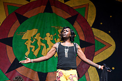 02 May 2015. New Orleans, Louisiana.<br /> The New Orleans Jazz and Heritage Festival. <br /> Big Freddia 'Queen of Bounce' on the Gentilly Stage.<br /> Photo; Charlie Varley/varleypix.com
