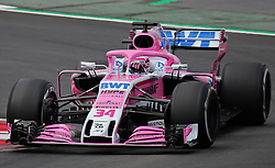 February 26, 2018 - Barcelona, Catalonia, Spain - the Force India of Nikita Mazepin during the tests at the Barcelona-Catalunya Circuit, on 27th February 2018 in Barcelona, Spain. (Credit Image: © Joan Valls/NurPhoto via ZUMA Press)