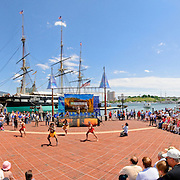 Dance performance by Australian aborigines at Inner Harbor, Baltimore