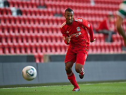 LIVERPOOL, ENGLAND - Wednesday, August 17, 2011: Liverpool's Toni Brito De Silva in action against Sporting Clube de Portugal during the first NextGen Series Group 2 match at Anfield. (Pic by David Rawcliffe/Propaganda)